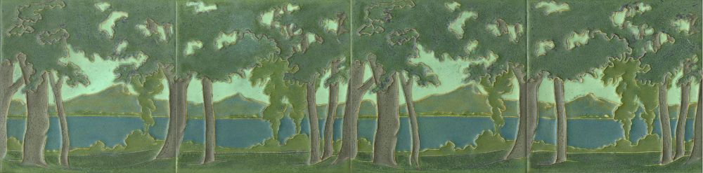Rookwood Pottery - Outline Trees and Lake