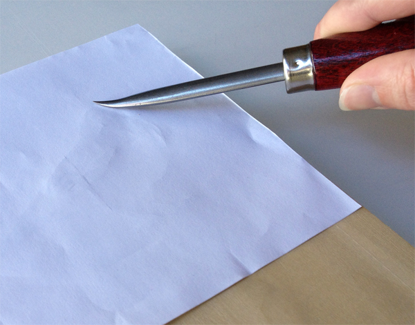 2. Transfer your drawing - Step 1 - Use your burnisher.