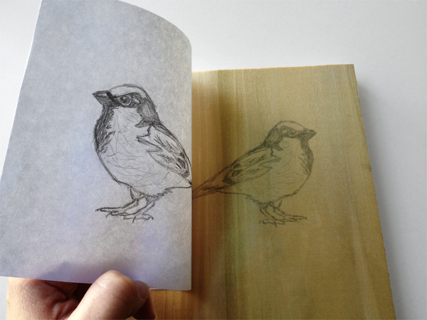 2. Transfer Your Drawing - Step 2 - Life a corner to check your image transfer.