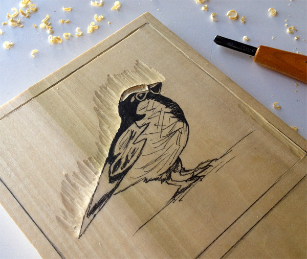 3. Start Carving - Step 4 - Carve away from your lines.