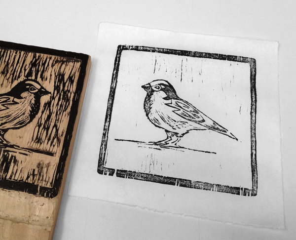 5. Print Your Block - Step 6 - Your completed woodblock print.
