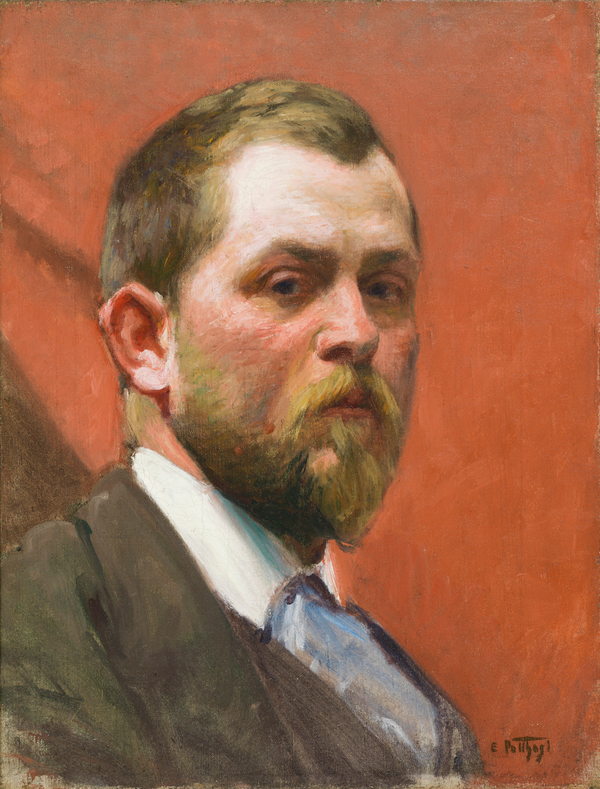 Edward Potthast, Self Portrait, c. 1890, Cincinnati Art Museum