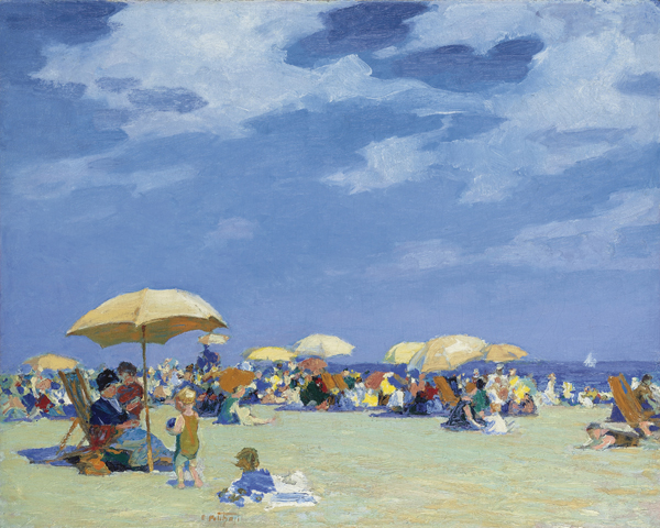 Edward H. Potthast - Beach at Far Rockaway