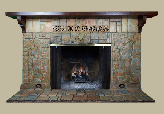 Calco Mayan Fireplace