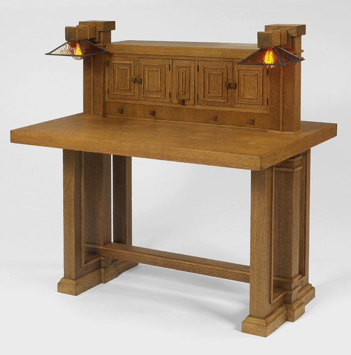 George M. Niedecken table. Design inspired by Frank Lloyd Wright