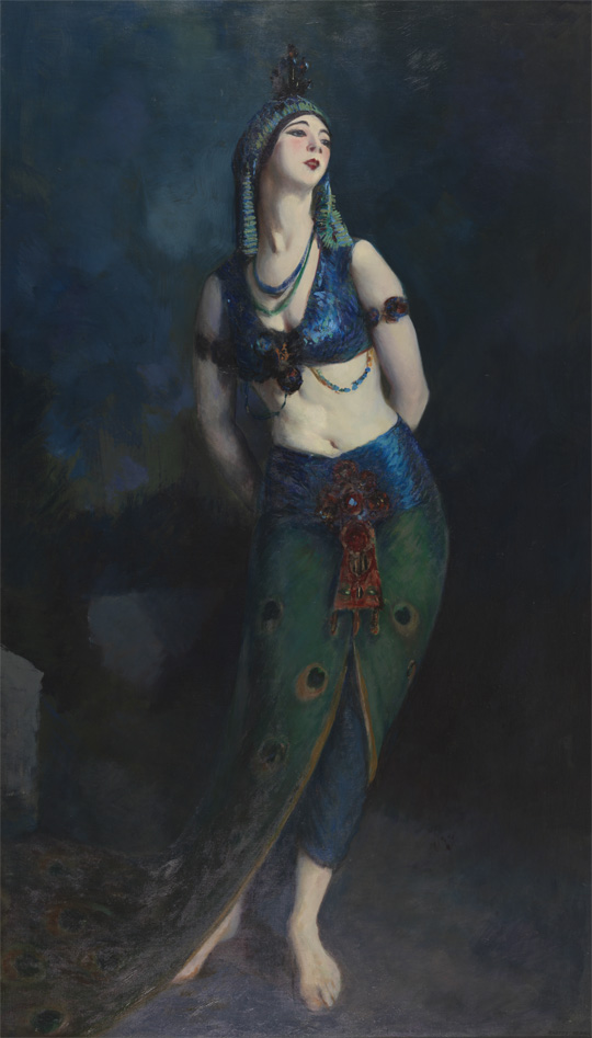 Robert Henri - Ruth St. Denis in The Peacock Dance - 1919