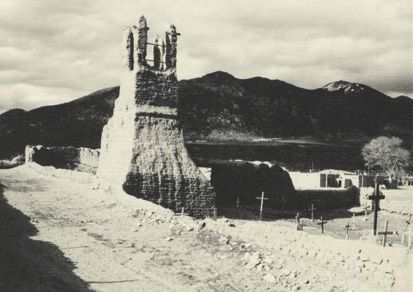 Ansel Adams' Taos Pueblo - Plate IV - Ruins of Old Church