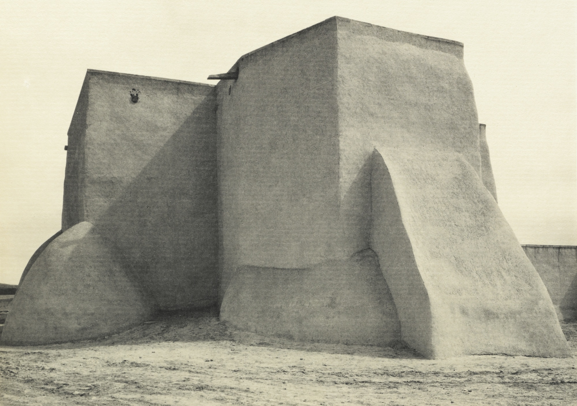 Ansel Adams' Taos Pueblo - Plate XII - Church at Ranchos de Taos