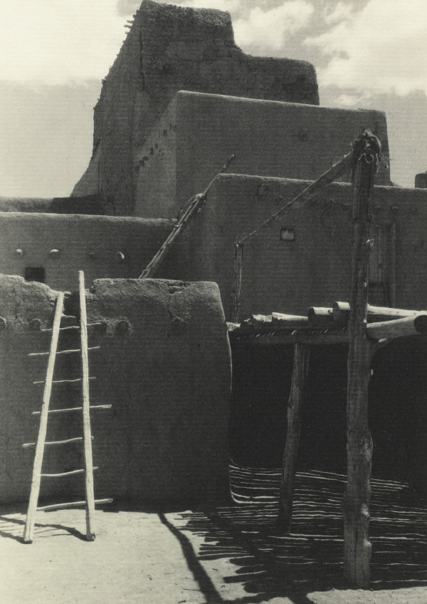 Ansel Adams' Taos Pueblo - Plate VII - North House (End View)