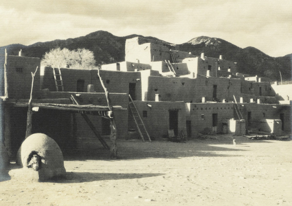 Ansel Adams' Taos Pueblo - Plate I - North House (Hlauuma)