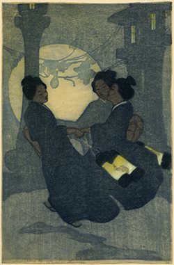 Bertha Lum - Fox Women, 1907 woodblock print