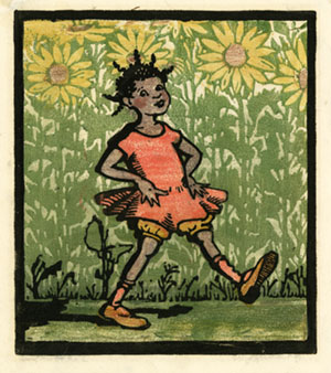Sunshine Sue Woodblock Print